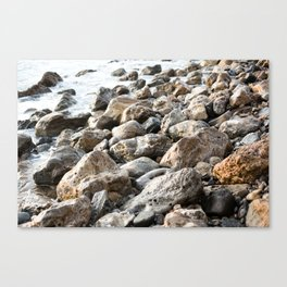 Palos Verdes Pebbles  Canvas Print