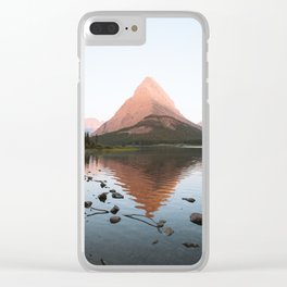 Sunrise at Swiftcurrent Lake Clear iPhone Case