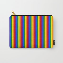 Mini Verticle Gay Pride Rainbow Beach Stripes Carry-All Pouch