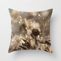 confetti Throw Pillows featuring Confetti by Irène Sneddon