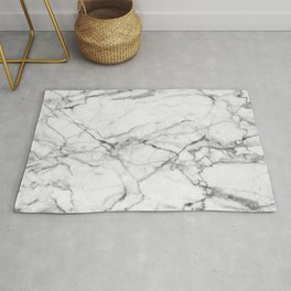 White Marble Stone Rug