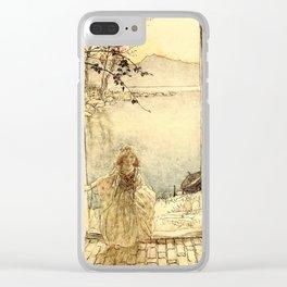 Arthur Rackham - Fouqué - Undine (1909) - A beautiful little girl clad in rich garments Clear iPhone Case