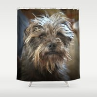 ewok Shower Curtains featuring Max's Face by Alison Turner