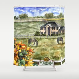 The Horse Ranch Shower Curtain