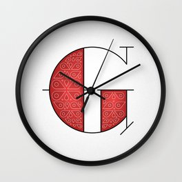 The Letter G Wall Clock