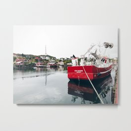 norwegian harbour Metal Print