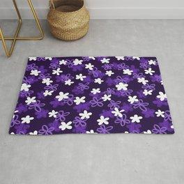 Purple Textured Flower pattern  Rug