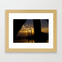 From Train Window Framed Art Print