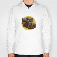 truck Hoodies featuring Truck by Mirko Dessureault