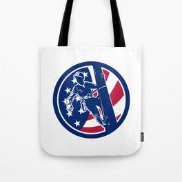 American Lineworker USA Flag Icon Tote Bag