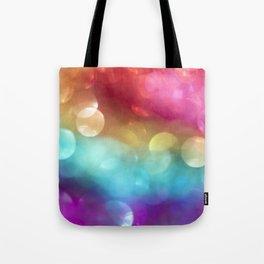 Rainbow Bokeh Tote Bag