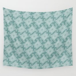 Tropical Turtle | mineral Teal Wall Tapestry