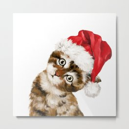 Christmas Baby Cat Metal Print
