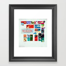 The Collective Map Framed Art Print