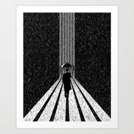 Winter's Long Road Art Print