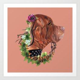 Flower puppy Art Print