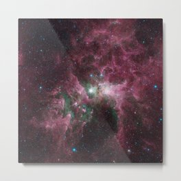 Abstract Purple Space Image Metal Print