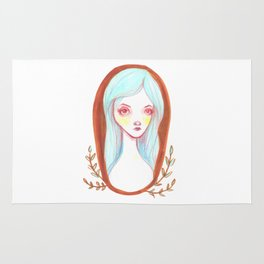 Blue Haired Forest Nymph Rug