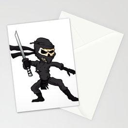 skull ninja cartoon. Stationery Cards
