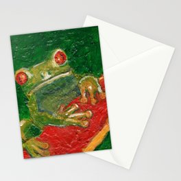 Red Eyed Frog Stationery Cards