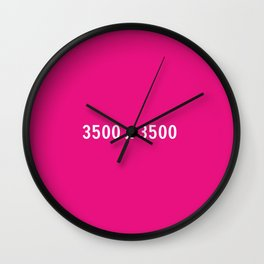 3000x2400 Placeholder Image Artwork (Pink) Wall Clock