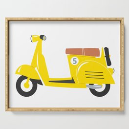 Retro yellow scooter Serving Tray