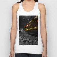 dumbo Tank Tops featuring DUMBO Light trail by Juha Photography