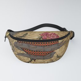 Steampunk, wonderful heart with rose Fanny Pack