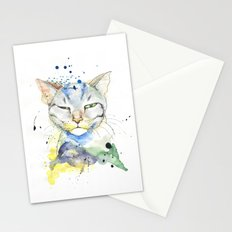 Suspicious Cat Stationery Cards