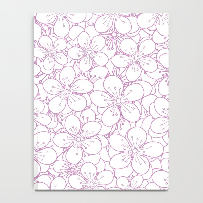 Cherry Blossom Pink Outline - In Memory of Mackenzie Notebook