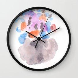 171122 Watercolour Abstract 1 Wall Clock
