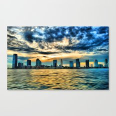 Jersey City sunset Canvas Print