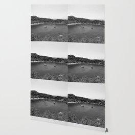 Rhodes Greece Anthony Quinn Bay black white Wallpaper