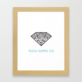 Pizza Supply Co (w/background) Framed Art Print