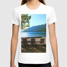 Adirondack Chairs at Lake Cresent T-shirt