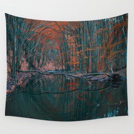 Romanian forest in autumn Wall Tapestry