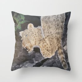 Leopard Caught in the Light. Throw Pillow