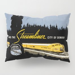 Union Pacific Train poster 1936 - Retouched Version Pillow Sham