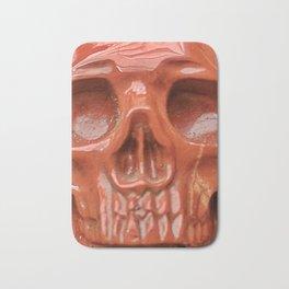 Red Jasper Skull Bath Mat