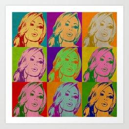 Retro Jenna Art Print