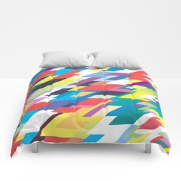 Layers Triangle Geometric Pattern Comforters