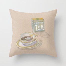 Uncertain Tea Throw Pillow