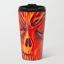 Fire Skull Airbrush Travel Mug