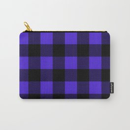 Midnight Blue and Black Buffalo Plaid Carry-All Pouch