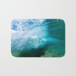Tropical Underwater Wave Bath Mat