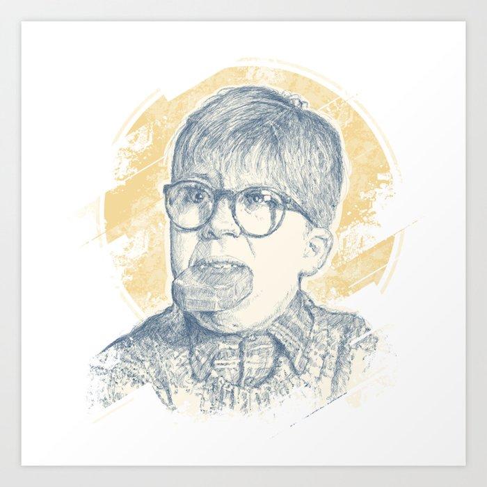 OH FUDGE RALPHIE! Art Print