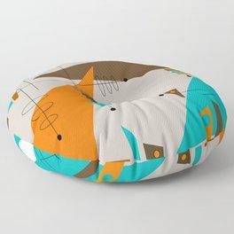 Mid-Century Rectangles Abstract Floor Pillow