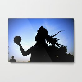 Mayan Ball Player Metal Print