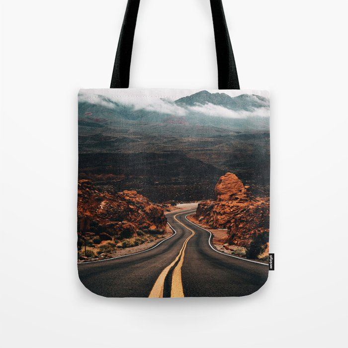 Road to Valley of Fire Tote Bag