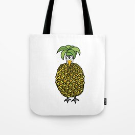 Eglantine la poule (the hen) dressed up as an pineapple Tote Bag